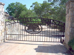 Custom Iron Driveway Gates Canyon Lake Texas San Antonio
