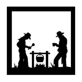 Custom Metal Silhouettes Texas Metal Art Western Metal